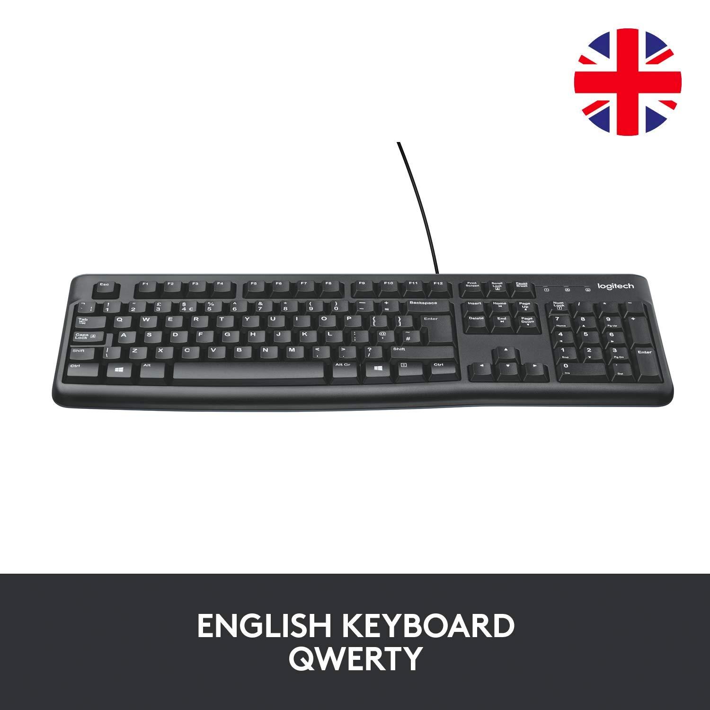 Logitech Tastiera K120 layout UK QWERTY