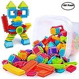 certainPL Bristle Shape 3D Building Blocks Tiles Construction Playboards Toys Toddlers Kids (100 PCS)