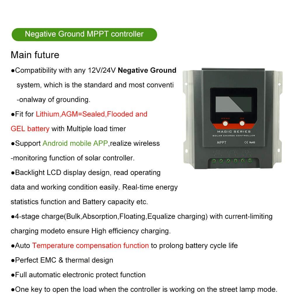 Amazon.com: PowMr 30a mppt Controlador de carga solar ...