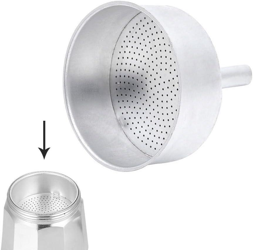 ORYX Embudo Cafetera Inducción 9 Tazas, Aluminio, Plateado ...