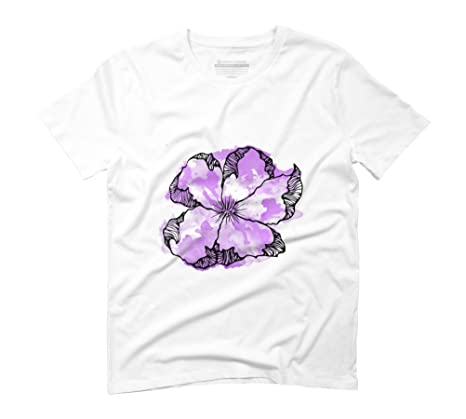 3984554ac Pink watercolor flower Men's Graphic T-Shirt - Design By Humans:  Amazon.co.uk: Clothing
