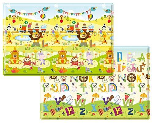 Babylynn baby play mat,kids play mat,infant play mat,foam mat,floor mat,play mat non toxic,play mat waterproof,large play mat,Creeping mat,playpen mat,activity mat, (XL, Birthday Party) by BABYLYNN