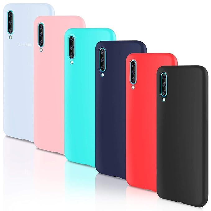 Leathlux 6 x Funda Samsung Galaxy A70, 6 Unidades Carcasas Juntas Ultra Fina Silicona TPU Flexible Colores Carcasas Samsung Galaxy A70 - Translúcido ...