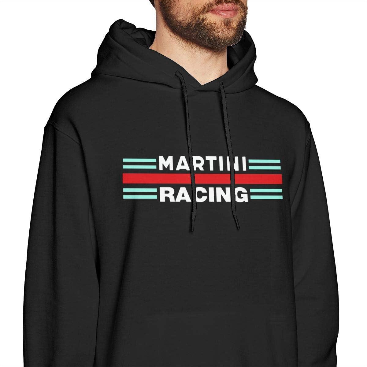 Pekivide Man Martini Racing Soft Black Hoodie Sweatshirt Jacket Pullover Tops