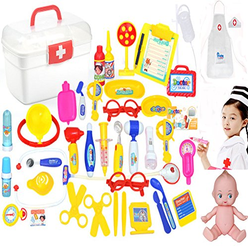 Doctor Nurse Medical Kit Toys Set Include 41 PCS ,Pretend And Play Toys Set For Kids-Love Your Children Give Them The Best (Play Needle)