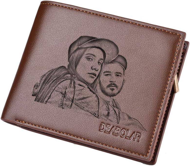 Billetera pesonalizada personalizada para hombre con foto de fotos personalizada, ideal para el día del padre, aniversario, papá, novio, marido, regalos