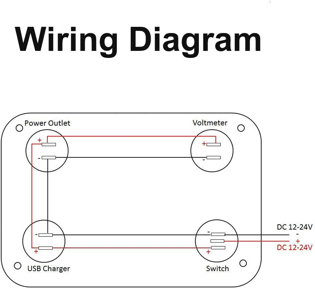usb wiring diagram charger amazon com linkstyle 4 in 1 charger socket panel  12v 4 2a dual  linkstyle 4 in 1 charger socket panel