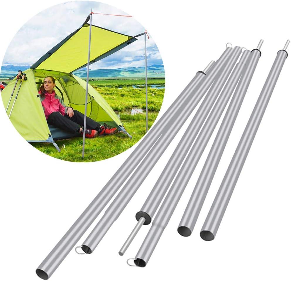 JO&FO - Barra de soporte de hierro para tienda de campaña, postes de lona de hierro ajustable, reemplazo de polos, soporte plegable ligero para ...
