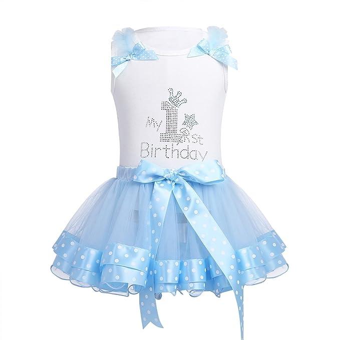 iiniim Vestido Princesa para Bebé Niña Mono de Algodón sin Mangas Fiesta Boda Bautizo bebé niña: Amazon.es: Ropa y accesorios
