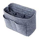 Felt Insert Bag Organizer Purse Organizer, Handbag Bag in Bag for Speedy Neverful Longchamp,Large,Gray(style 1)