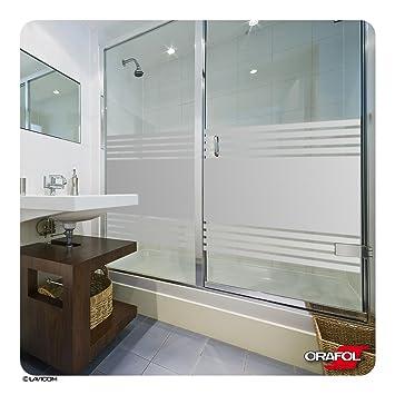 LAVICOM Sichtschutz   MADE IN GERMANY   Dusche Sauna Schwimmbad Duschkabine  Bad Sichtschutzfolie Streifendesign Glasdekorfolie +
