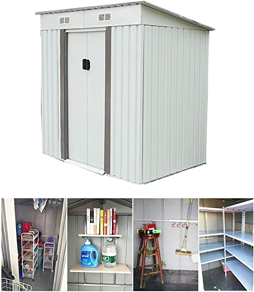 Casa De Almacenamiento Conjunto Móvil Simple Casa Jardín Al Aire Libre Cuarto De Herramientas Sala De La Casa Móvil Combinación Lavadero: Amazon.es: Hogar