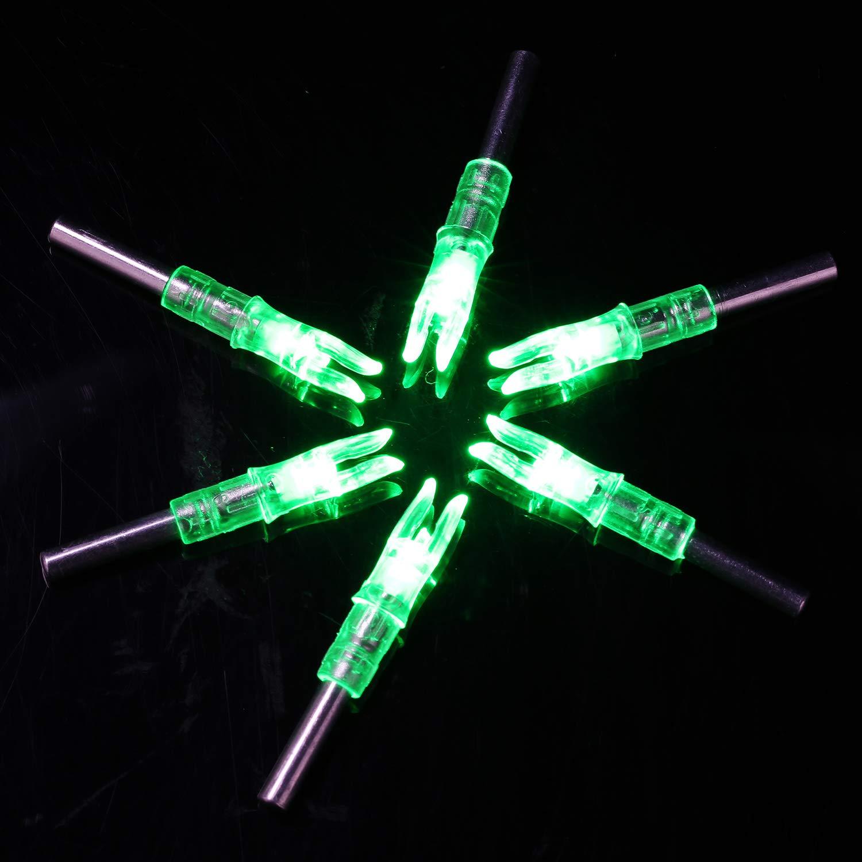 Amazon.com: aokur 3pcs 6,2 mm automático LED iluminado Nock ...