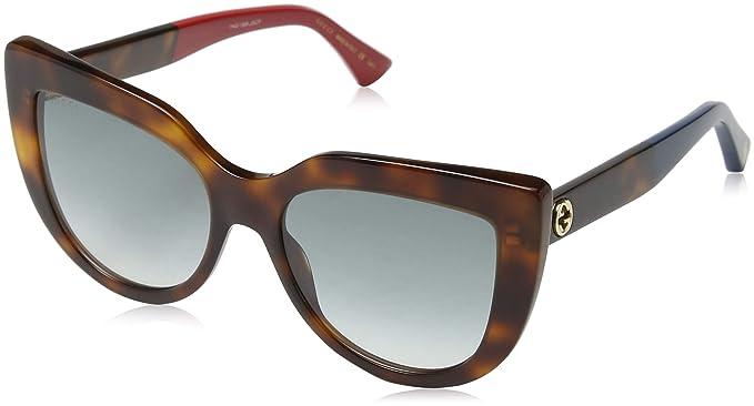 Gucci GG0164S-004 Gafas de Sol, Havana, 53 para Mujer