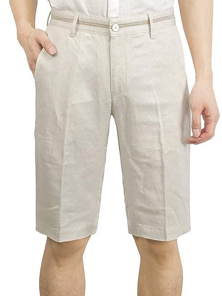 Battercake Pantalones Cortos De Lino Lino Pantalones De para ...