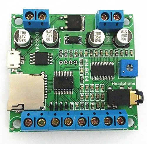 (4 Buttons Triggered MP3 Player Board with 10W Amplifier and Terminal Blocks)