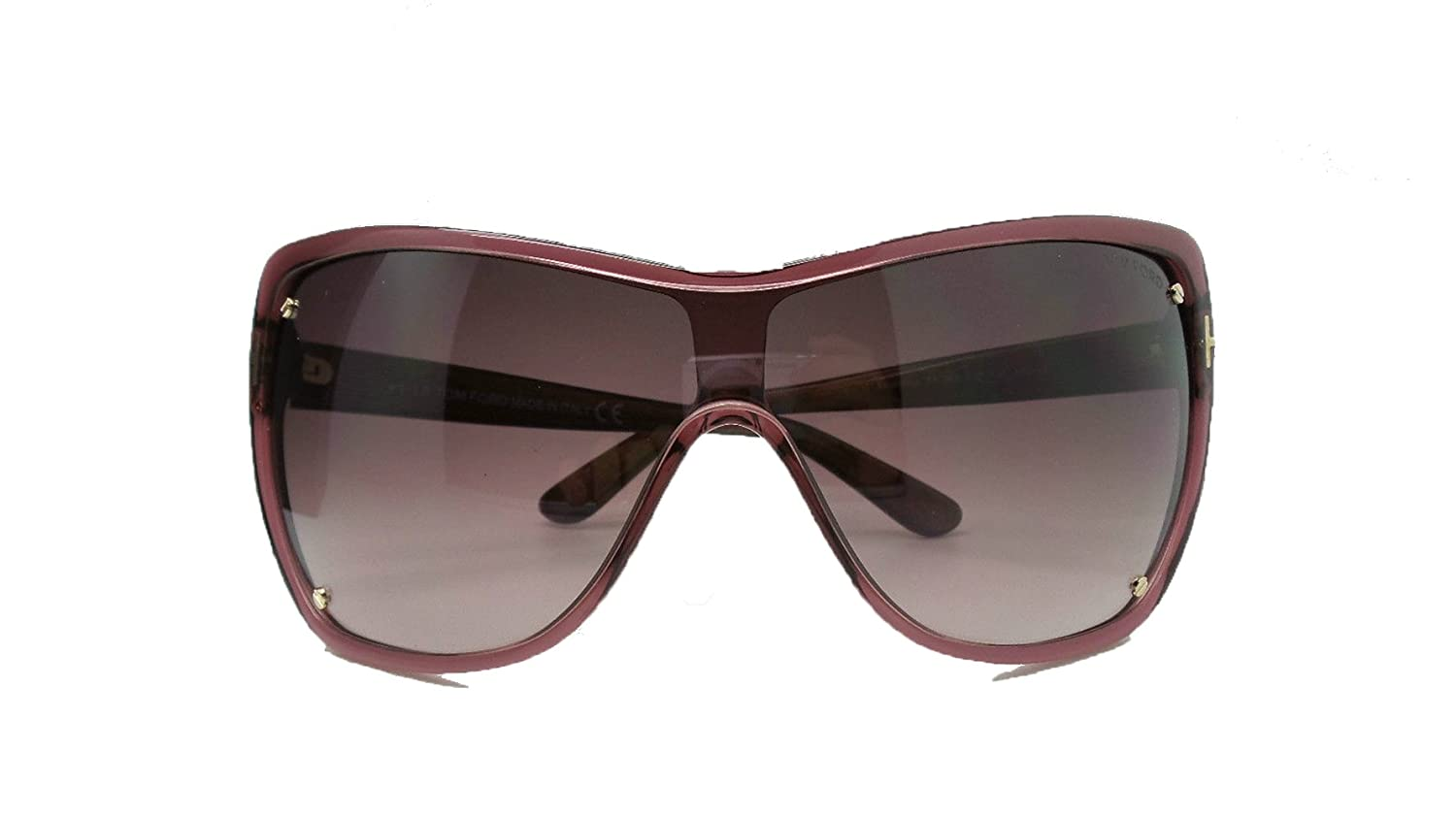 beb8f2e2f00 Amazon.com  TOM FORD TF363 Ekaterina Sunglasses Transparent Wine W plump  Gradient  Clothing