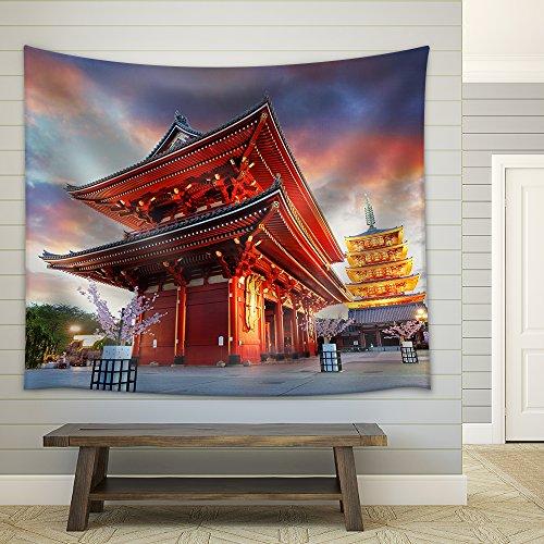 Tokyo Sensoji Ji Temple in Asakusa Japan Fabric Wall Tapestry