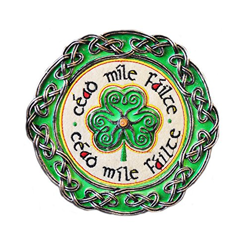 Celtic Threads Hand Painted Wall Plaque Cead Mile Failte