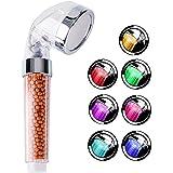 LED Acachofa Ducha Alta Presiòn Cabeza de Ducha de Mano con 7 Cambio de color (7 Cambios de Color)