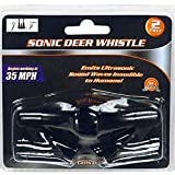 JEWELS FASHION Set of Two Ultrasonic Deer Whistle Alerts-Begins Working at 35 MPH-Powered