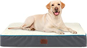 SunStyle Home Orthopedic Foam Dog Bed for Small, Medium, Large Dogs Up to 50/75/100lbs with Waterproof Removable Cover, Mattress Pet Mat Bed for Dogs & Cats - Orthopedic Egg Crate Foam Platform