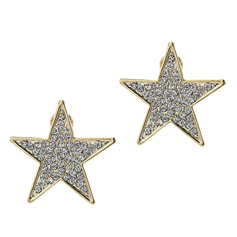 MD Jewellery Screwback Earrings in 14K White Gold Fn CZ Daily Wear For Girls Womens