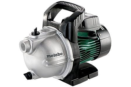 Metabo Gartenpumpe P 4000G (1100W, 4,6 bar, 24 l, Fördermenge 4000 l/h, Wasserablassschraube, Start/Stop Automatik) 600964000