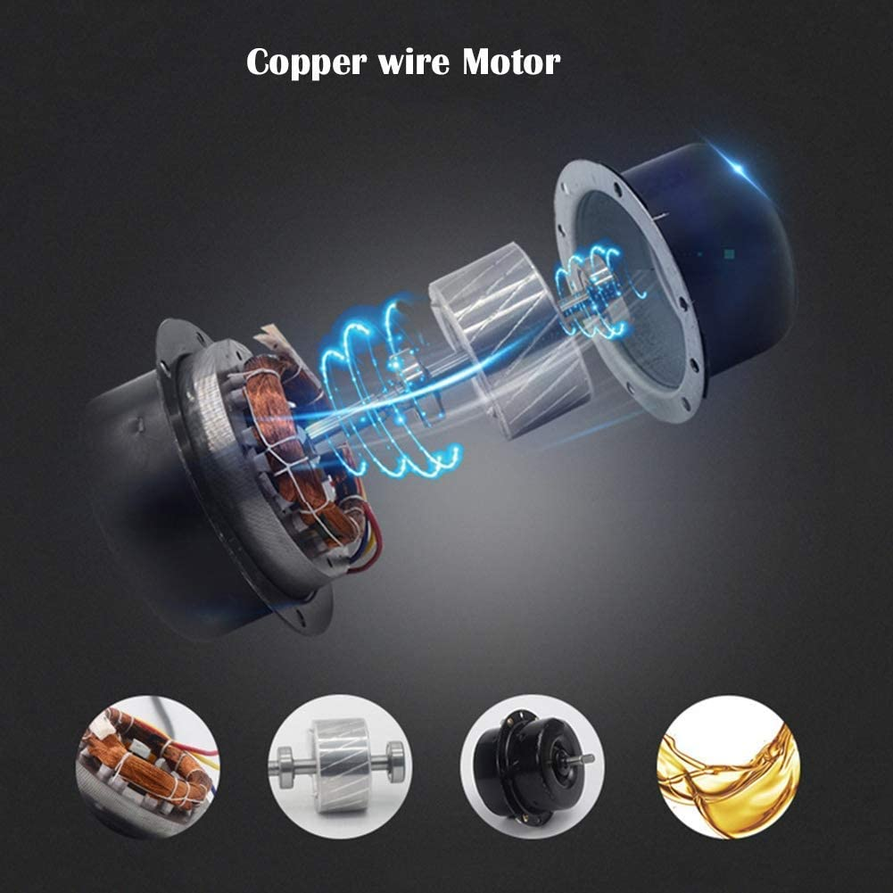 Schlafzimmer Knoijijuo 250mm Silent L/üfter Abluftventilator 2100m/³ // h ABS B/üro Ball Bearing Motor l/äuft Bad