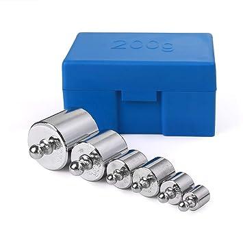 6 piezas 100 g Calibración Peso Peso Calibración Peso de la báscula Juego para báscula digital
