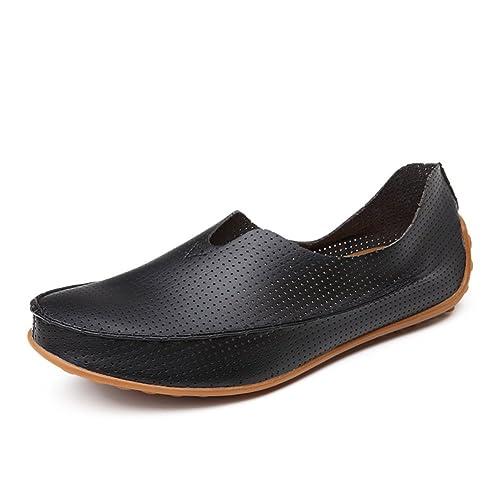 Zapatos de hombre de verano/zapatos casuales/Los zapatos de ventilación de guisantes/El conductor de un pedal de zapatos/Zapatos marea coreanos-C Longitud del pie=26.3CM(10.4Inch) C6aaq