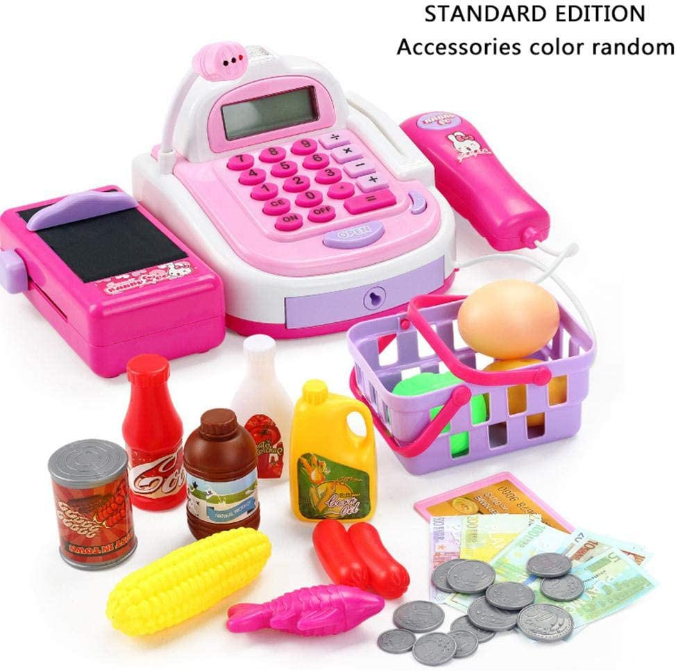 Per Childrens Role Play Toy Supermarket Cash Register Kids Toy Early Education Random Color