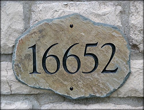 House Numbers Address Stone / Carved Marker / House / Plaque /Sign -