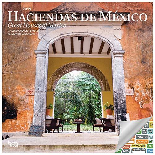 Mexico 2018 Calendar - Great Houses of Mexico Calendar 2019 Set - Deluxe 2019 Haciendas de Mexico Wall Calendar with Over 100 Calendar Stickers (Mexico Gifts, Office Supplies)