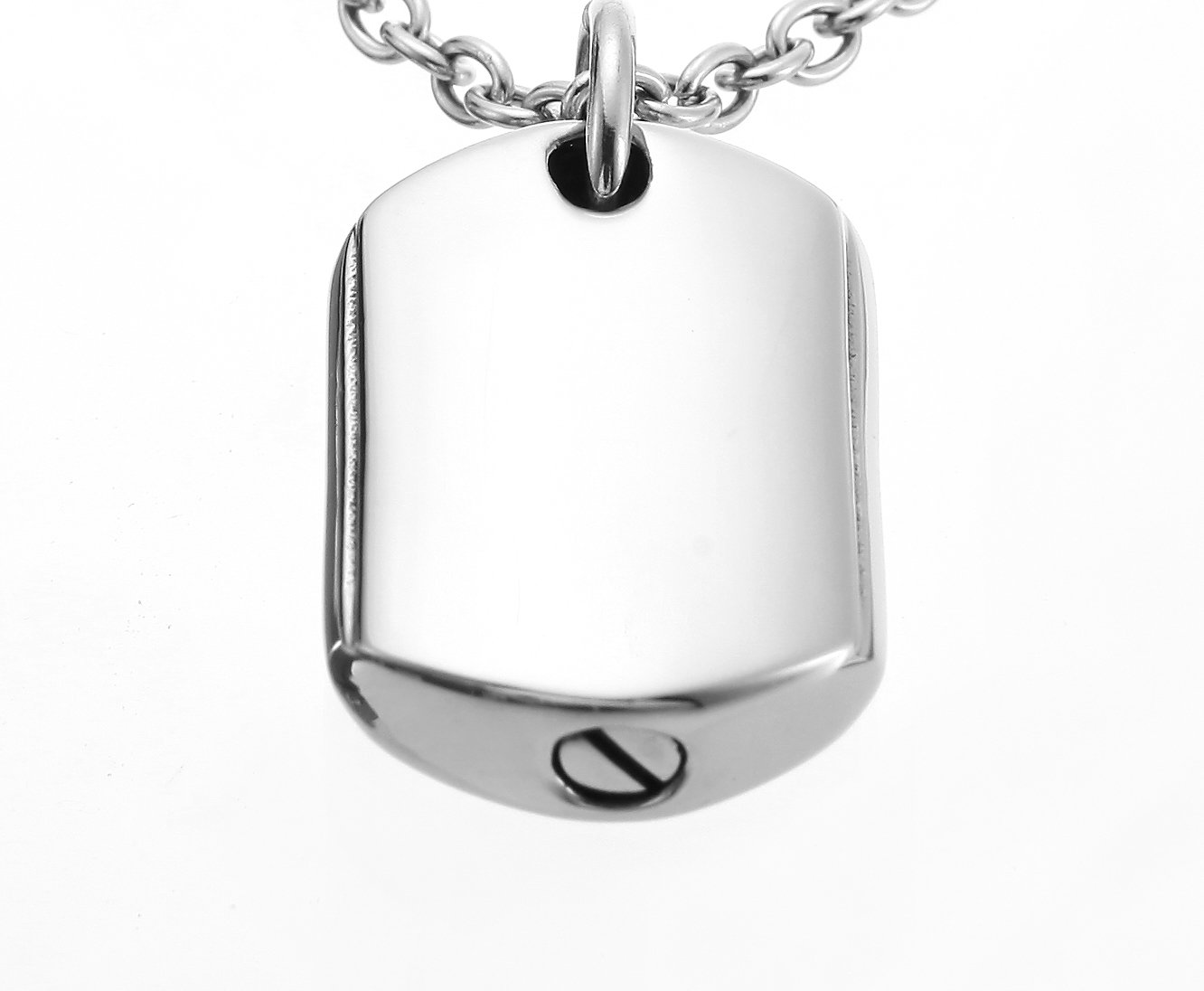 Zoey Jewelry Dog Tag Style Pendant Necklace Stainless Steel Cremation Urn Jewelry Ashes Funnel Filler Kit by Zoey Jewelry
