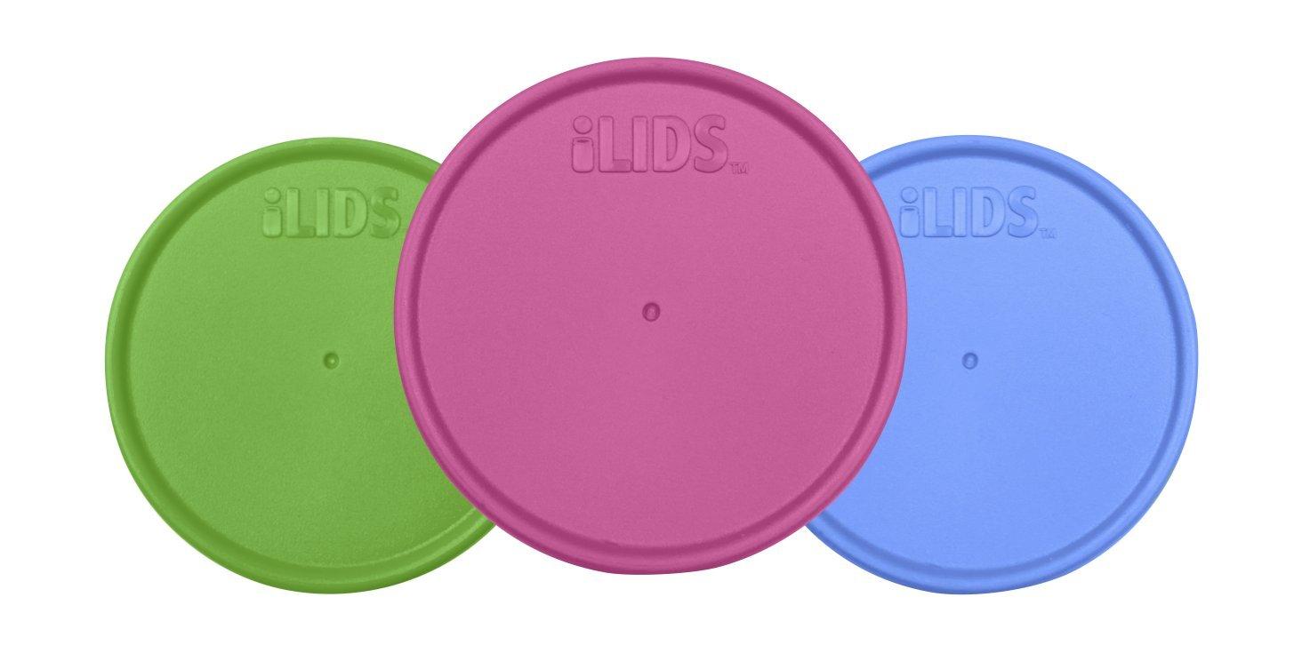 iLIDS Mason Jar Storage Lid, Regular Mouth, Whimsy, 3-Pack