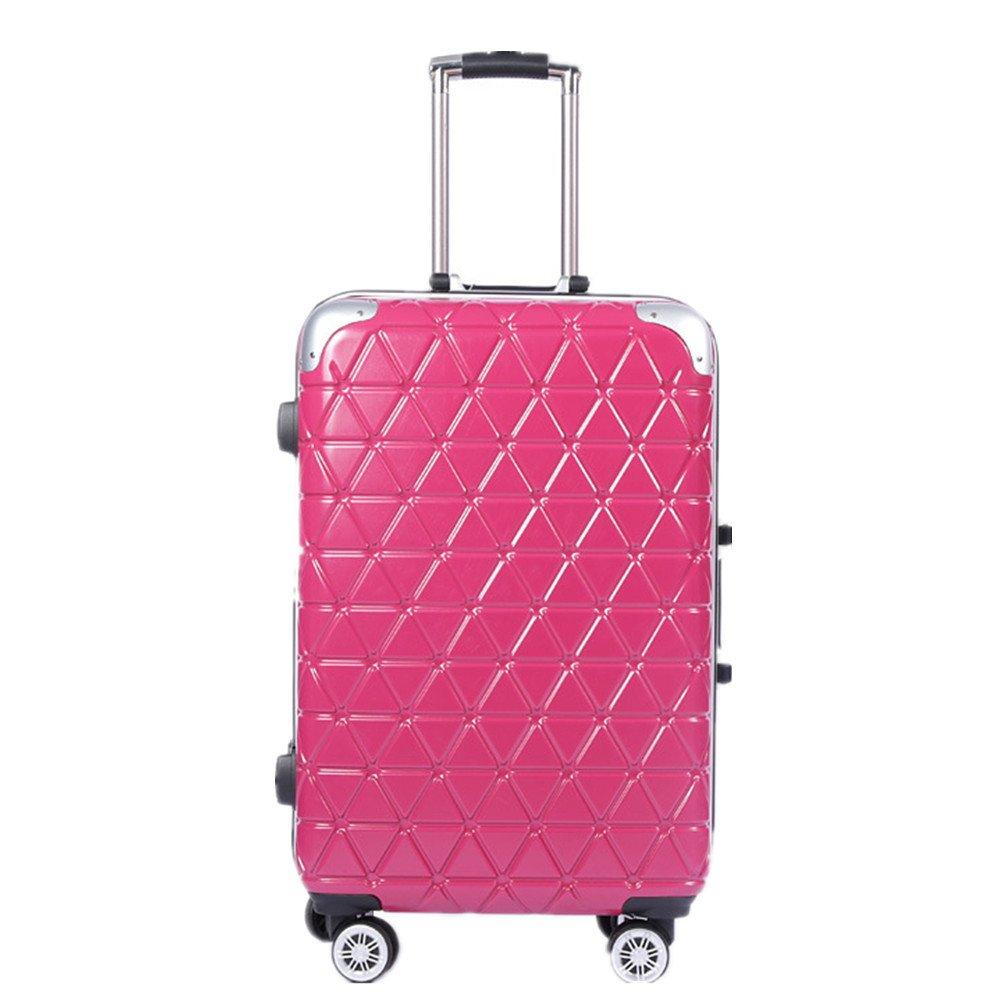 軽量スーツケース 拉箱箱 万輪 20英寸 密室 24英文铝フレーム 手提庫硬殻 旅行スーツケース (色 : 赤)  赤 B07RBWBPQ2