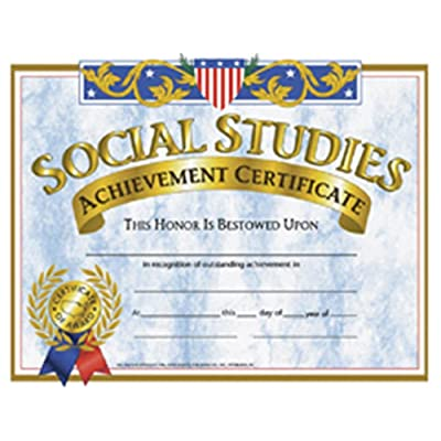 Hayes School Publishing Certificates Social Studies 30/Pk 8.5 X 11: Toys & Games