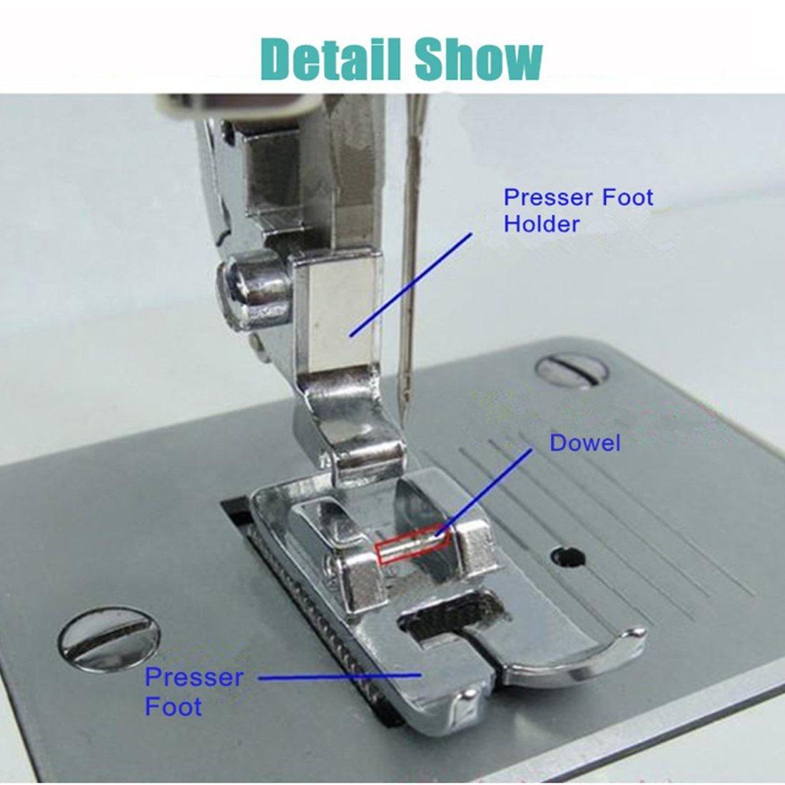 42pcs Kit de prensatelas para máquina de coser trenzado de punto de juego: Amazon.es: Hogar
