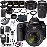 Canon EOD 5D III Digital Camera w/ 24-70 Lens + Canon EF 75-300mm Lens + Canon EF 50mm f/1.8 STM Lens + LPE-6 Lithium Ion Battery + External Rapid Charger + Canon 100ES EOS shoulder bag Bundle 12