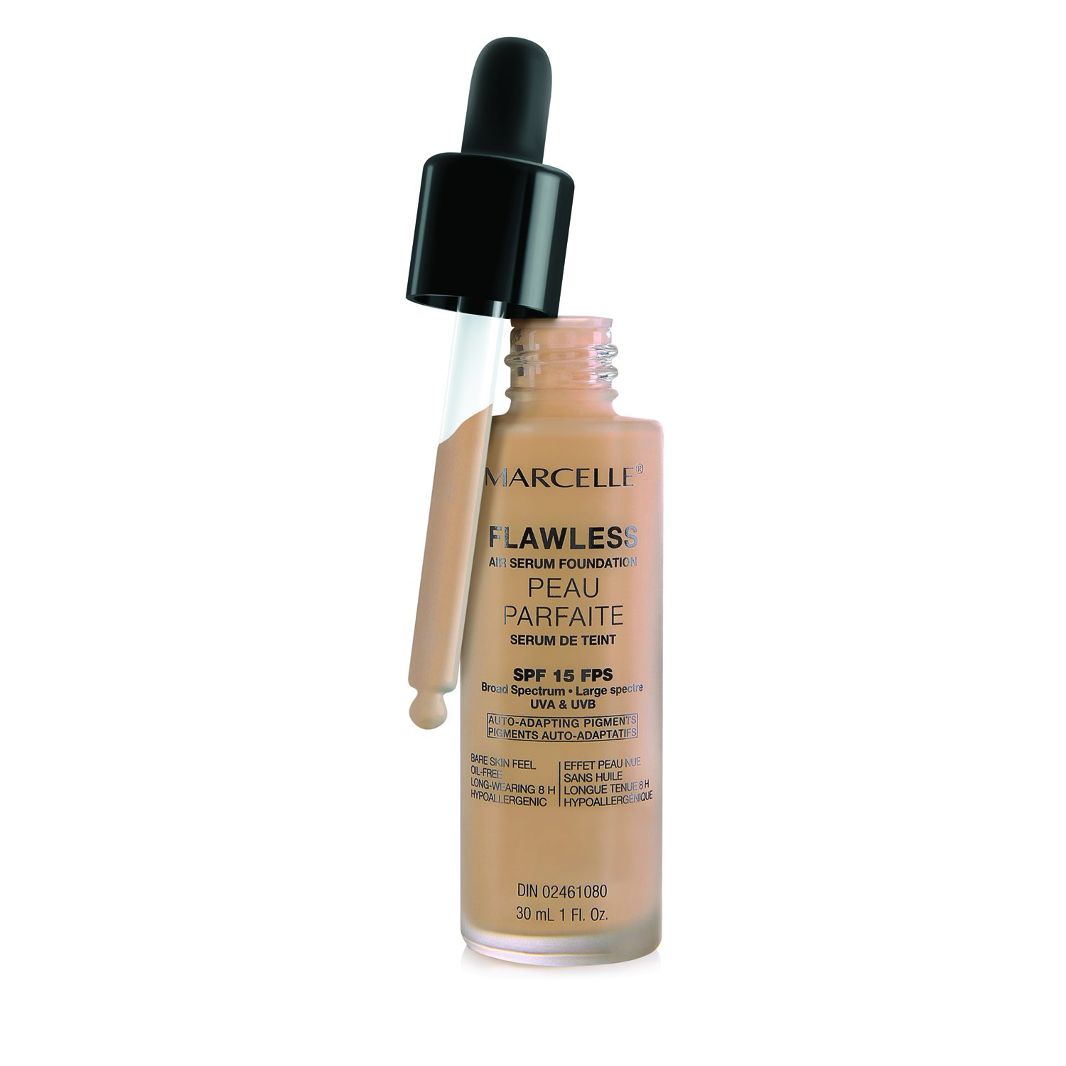 Marcelle Hypoallergenic and Fragrance-Free Flawless Air Serum Foundation SPF15 Natural Beige Groupe Marcelle Inc.