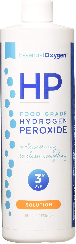 Essential Oxygen Food Grade Hydrogen Peroxide - 16 Ounce (Pack of 2)
