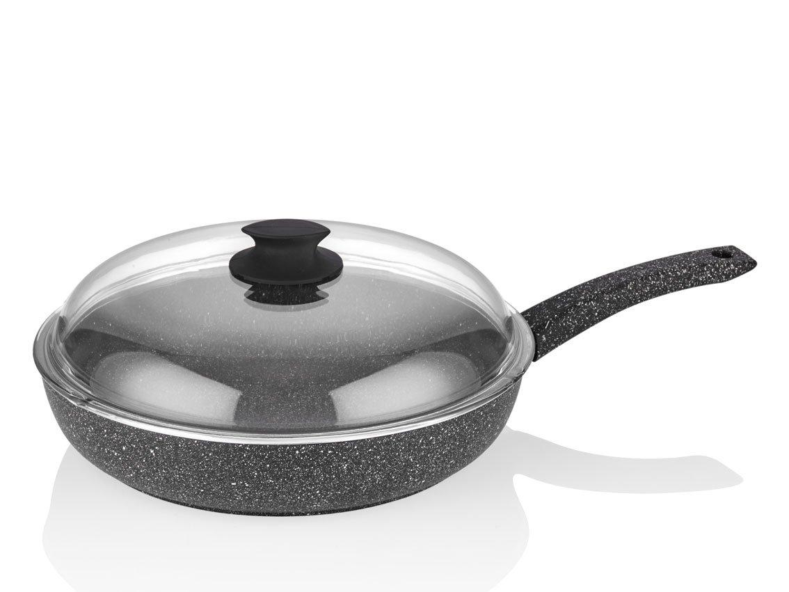 Flonal PLVPB3271 Lava Stone Sautepan with 1 Handle Diameter 32 cm, Aluminium, Black FLONAL SPA 8001569088302