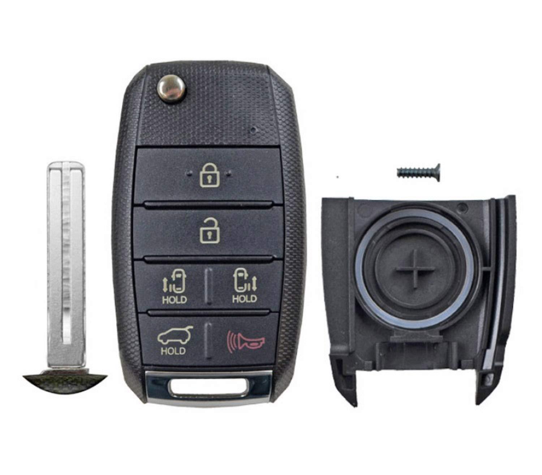 1 QualityKeylessPlus Remote Case 6 Button Pad Uncut Insert Blade For Kia Sedona FCC TQ8-RKE-4F21 95430-A9300