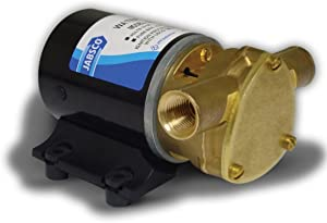 "Jabsco 18660 Series Marine Water Puppy Bilge/Sump Flexible Impeller Pump 6.3 GPM, 12-Volt, 15-Amp Non-CE, 1/2"" NPT Ports"