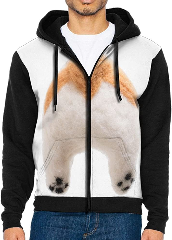 Shark Corgi/Dog Cool Mens Black Hoodie Sweatshirt Sportswear Jackets with Hoodies