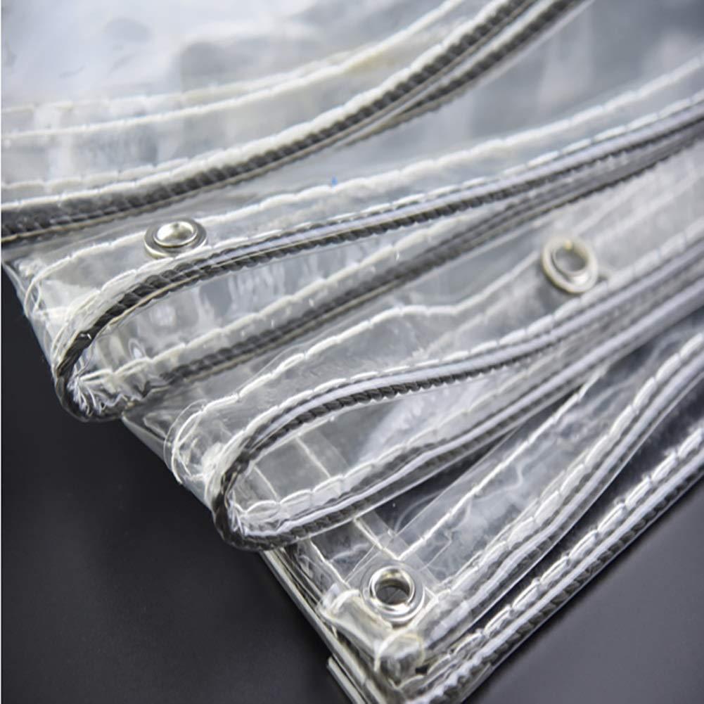 Taille : 1.1/×2M B/âche Transparente /épaisse de PVC Tissu en Plastique de Rideau en Salle de Lavage de Voiture pour la Tente de Balcon 0.3mm 500g //