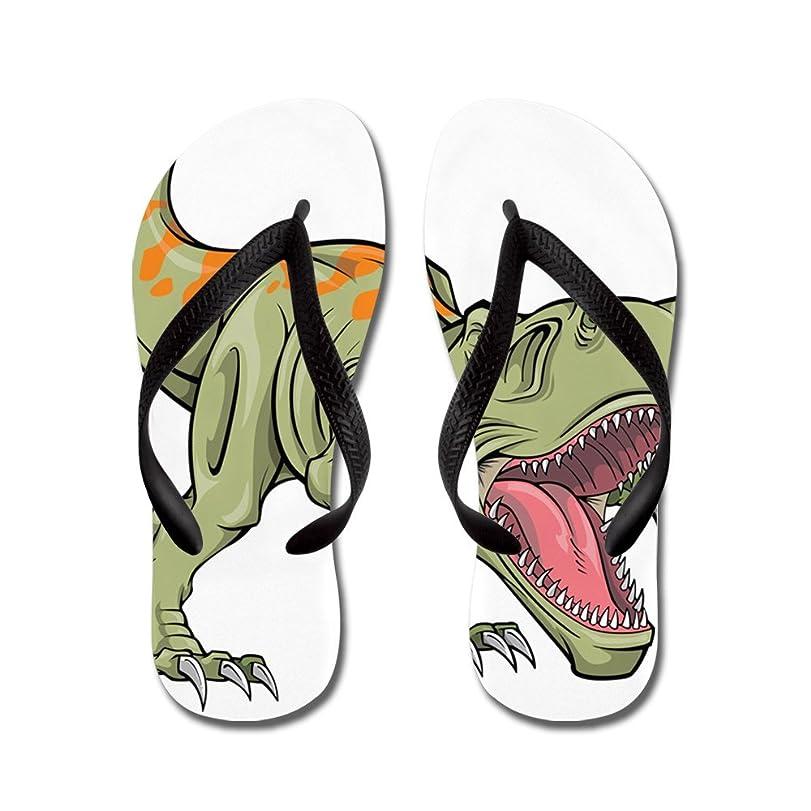 Screaming Dinosaur - Flip Flops Funny Thong Sandals Beach Sandals