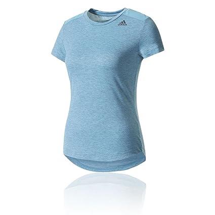 Adidas Prime tee Mix Camiseta, Mujer, Azul (acetac), 2XS