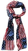 Echarpe Drapeau Us Usa Amerique Foulard Cheche Mousseline 150x32cm